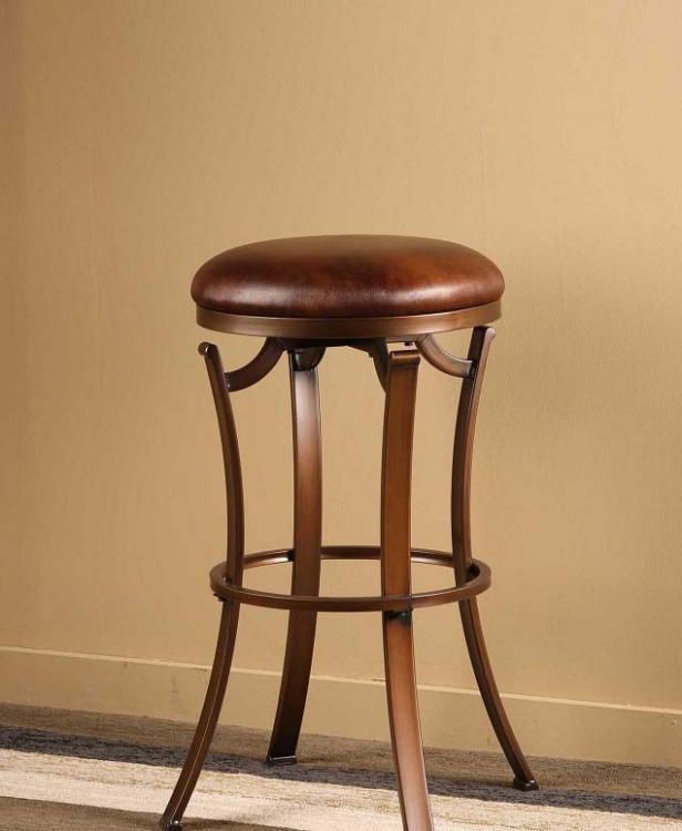 Kelford Backless Swivel Counter Stool - Antique Bronze