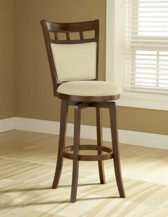 Jefferson Swivel Barstool With Cushion Back - Hillsdale
