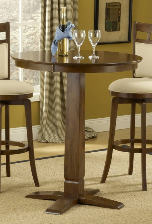 Dynamic Designs Pub Table-Brown Cherry - Hillsdale