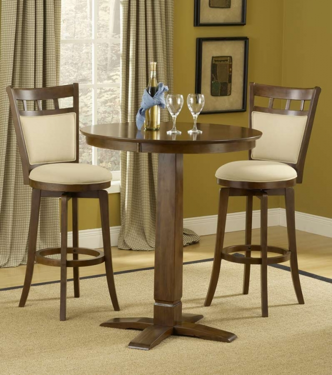 Dynamic Designs Pub Dining Set-Brown Cherry - Hillsdale