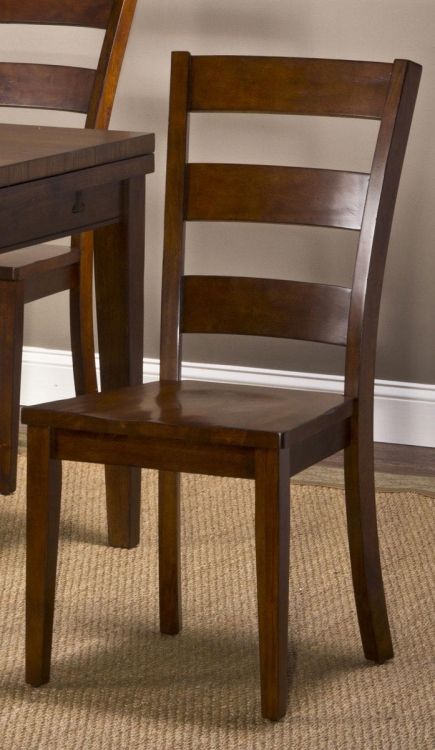Harrods Creek Ladder Back Dining Chairs - Medium Brown Oak - Hillsdale