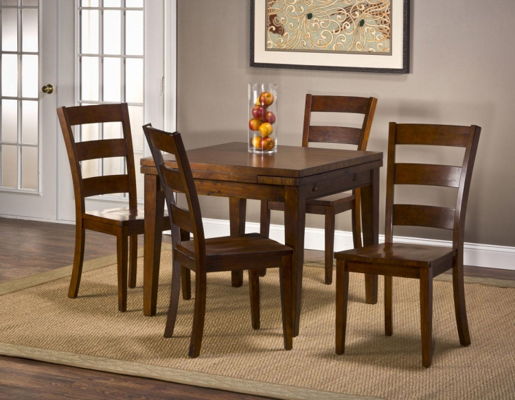 Harrods Creek 5 Piece Dining Set - Medium Brown Oak - Hillsdale