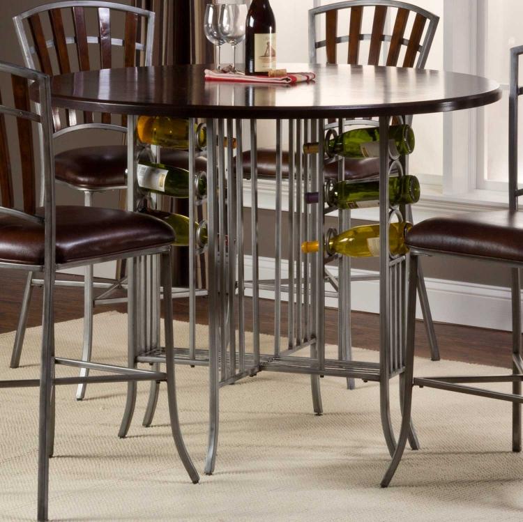 Sarasota Counter Height Round Dining Table - Dark Walnut