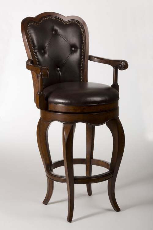 Eastwind Swivel Bar Stool - Dark Cherry