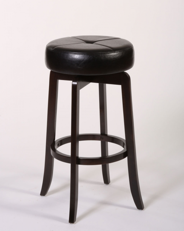 Rhodes Backless Bar Stool - Walnut - Hillsdale