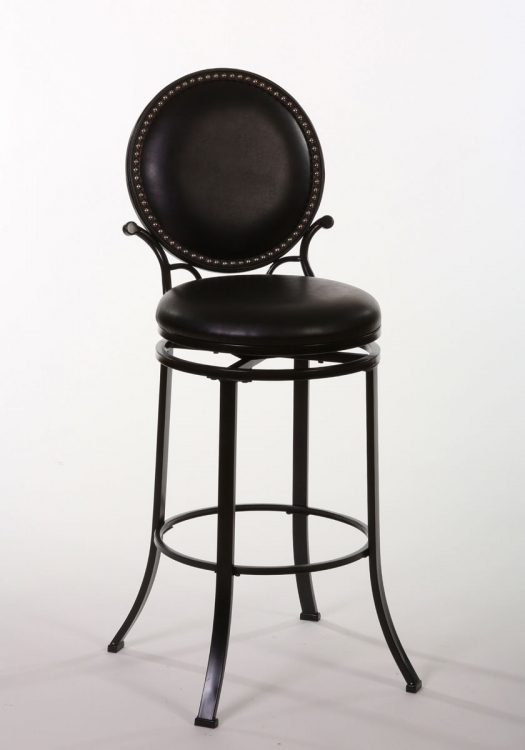Spencer Swivel Counter Stool - Matte Black