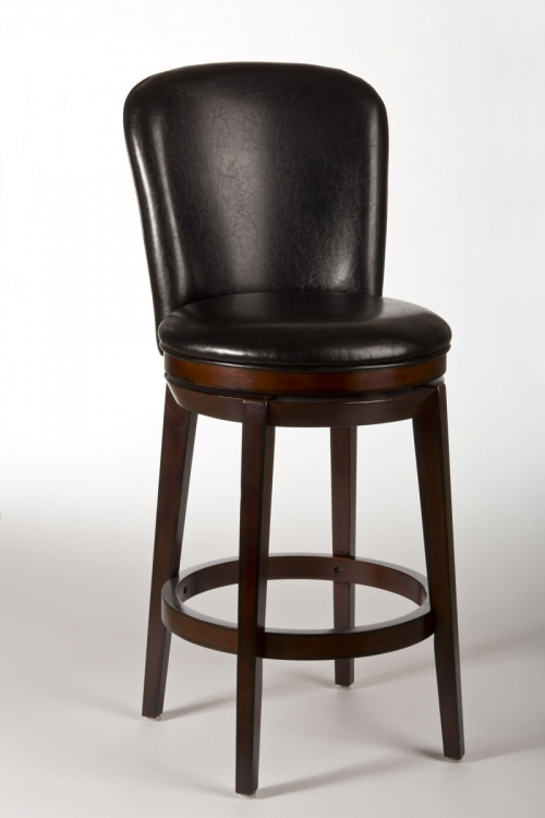 Victoria Swivel Counter Stool - Dark Brown Cherry - Hillsdale