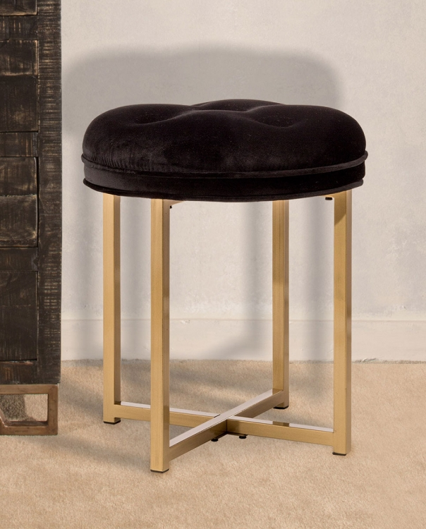 Maura Backless Vanity Stool - Gold