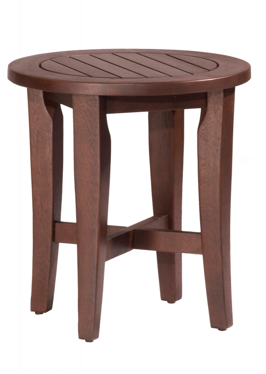 Preston Round Vanity Stool - Walnut