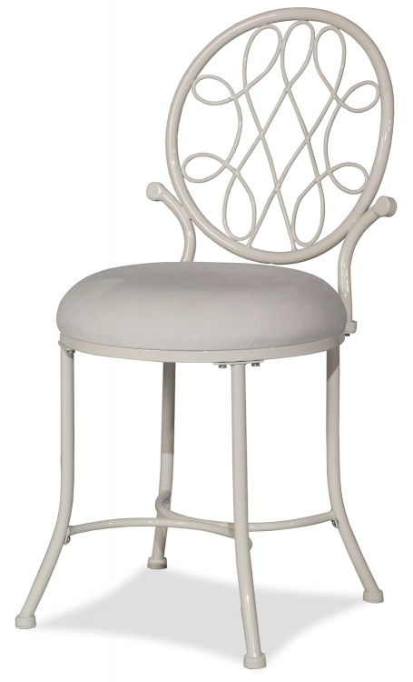 O'Malley Vanity Stool - White