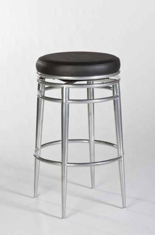 Hyde Park Backless Swivel Counter Stool - Chrome