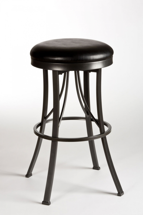 Ontario Backless Bar Stool - Pewter - Hillsdale
