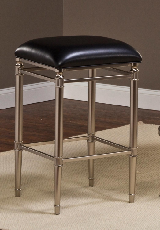 Riverside Non-Swivel Backless Bar Stool - Espresso - Hillsdale