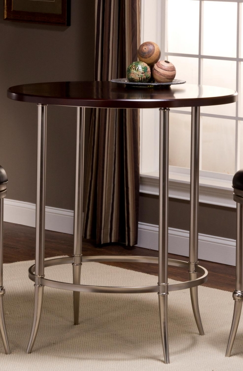 Maddox Bar Height Bistro Table - Espresso/Dull Nickel - Hillsdale
