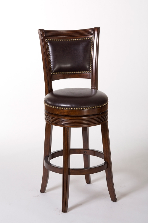 Lockefield Swivel Bar Stool - Espresso/Dark Brown PU