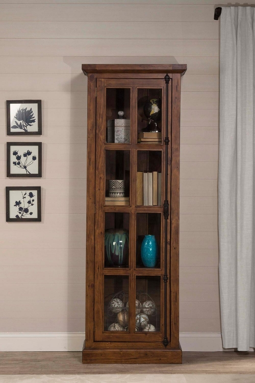 Tuscan Retreat Tall Single Door Cabinet - Antique Pine