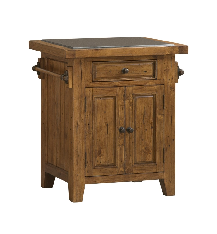 Tuscan Retreat Small Granite Top Kitchen Island - Antique Pine