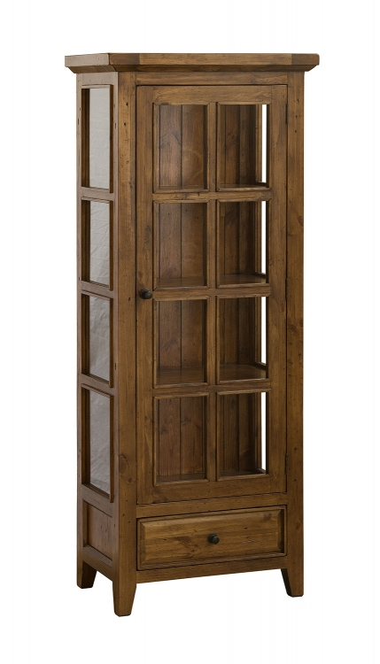 Tuscan Retreat Small Display Cabinet - Antique Pine