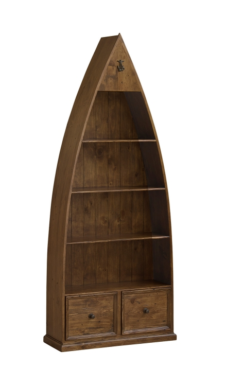 Tuscan Retreat Boat Bookshelves and Storage - Antique Pine