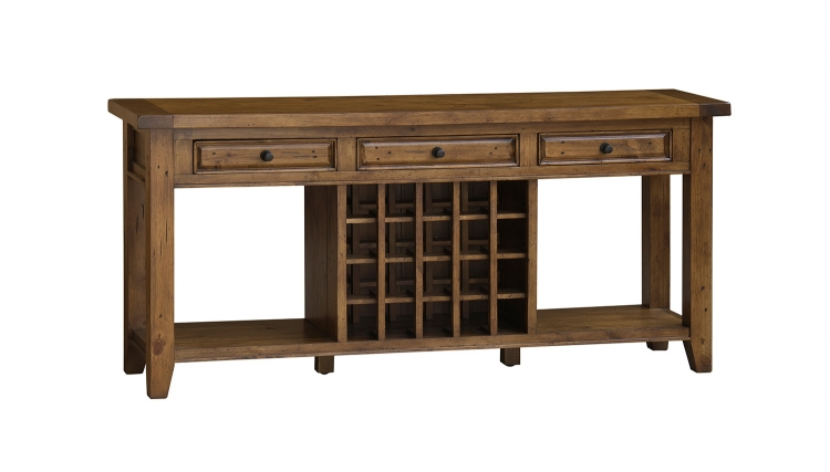 Tuscan Retreat Sideboard with 20 Bottle Wine Storage - Antique Pine