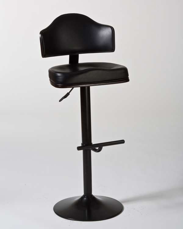 Warner Adjustable Stool - Black/Cherry