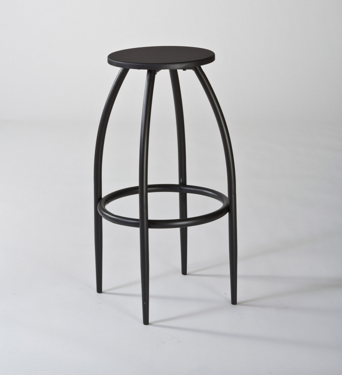 Bowen Backless Adjustable Bar Stool With Nested Leg Dark