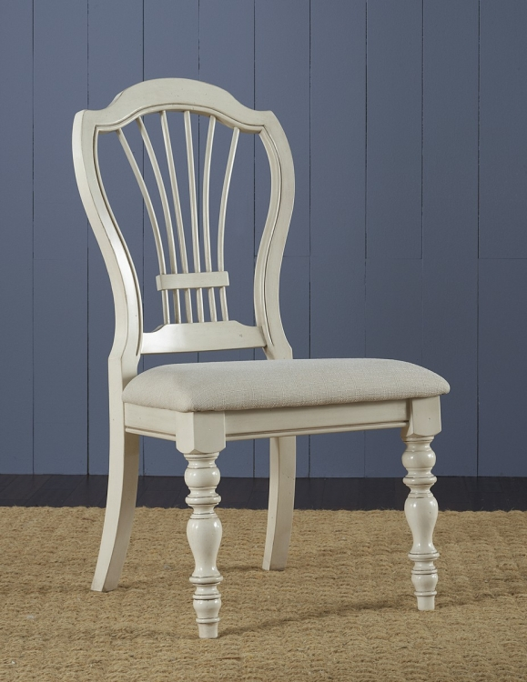 Pine Island Wheat Back Side Chair - Old White - Ivory