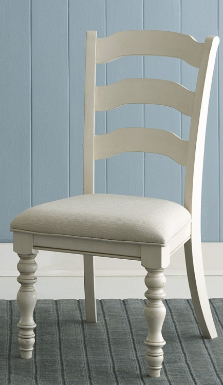 Pine Island Ladder Back Side Chair - Old White - Ivory