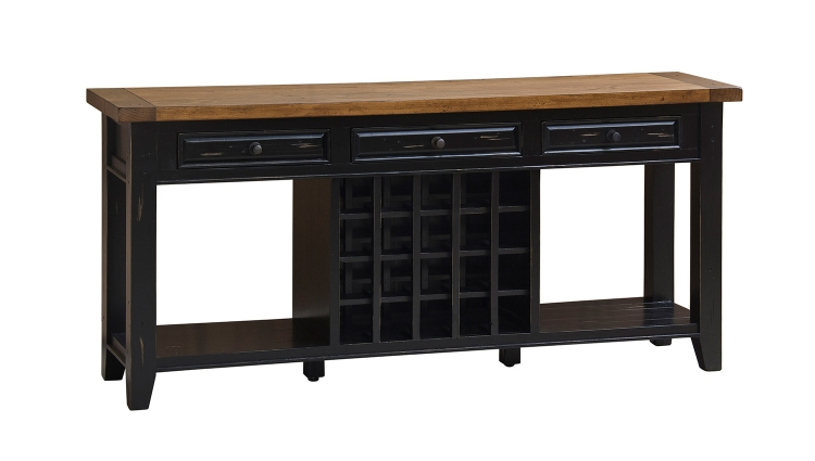 Tuscan Retreat Sideboard with 20 Bottle Wine Storage - Black/Oxford