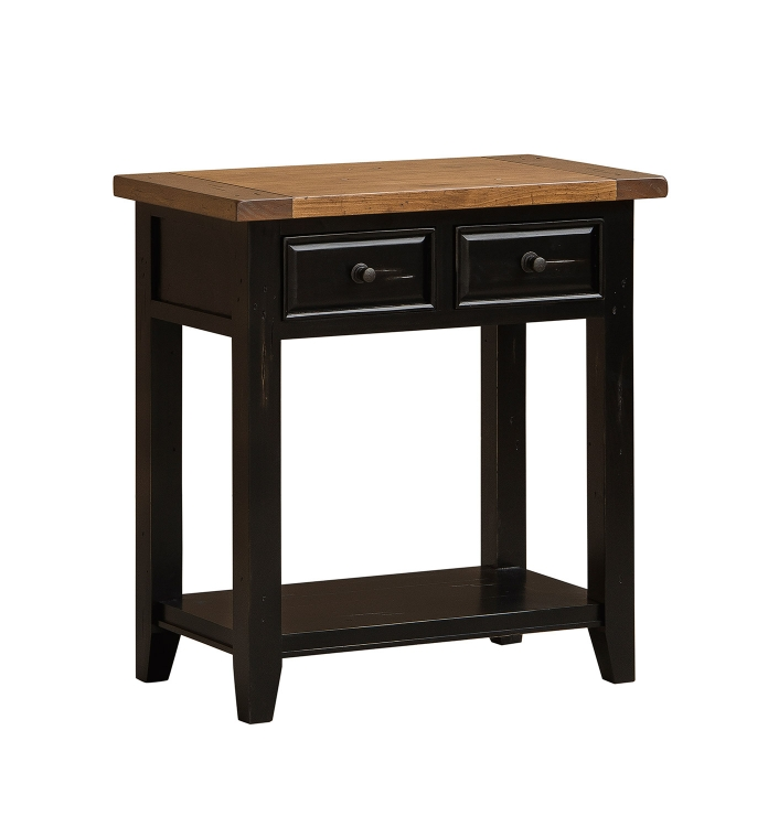 Tuscan Retreat 2 Drawer Hall Console Table - Black/Oxford