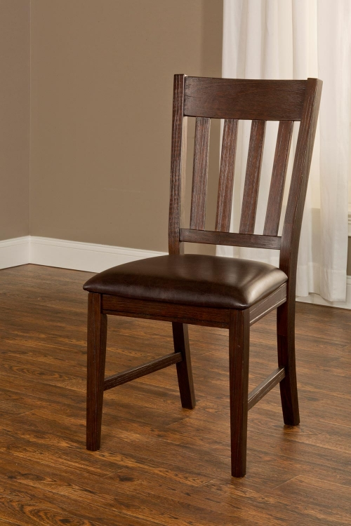 Brooklawn Dining Chair - Smoke Brown/Dark Brown Vinyl
