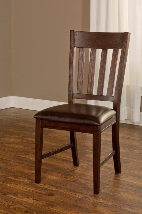 Brooklawn Dining Chair - Smoke Brown/Dark Brown Vinyl