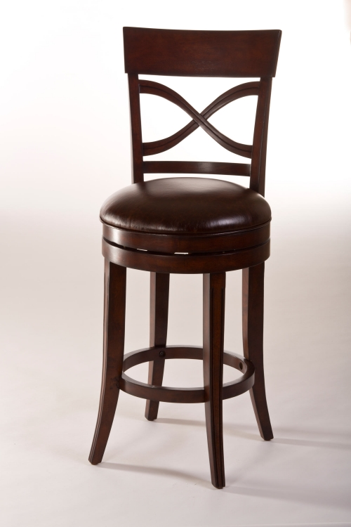 Drysdale Swivel Counter Stool - Dark Brown