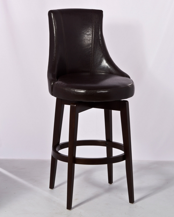 Santa Anita Swivel Counter Stool w/Dark Brown Vinyl - Cappuccino