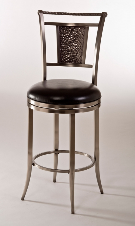 Parkside Swivel Counter Stool - Antique Pewter