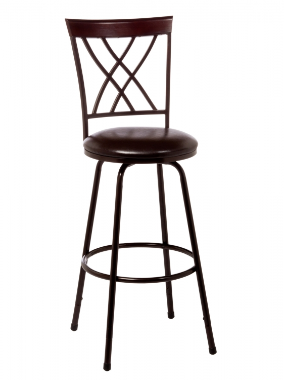 Northland Swivel Counter/Bar Stool - Brown/Cherry