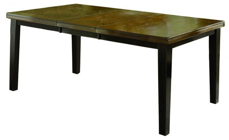 Killarney Dining Table w/Butterfly Leaf - Black/ Antique Brown