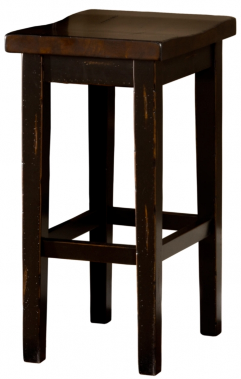Killarney Backless Counter Stool - Black/ Antique Brown