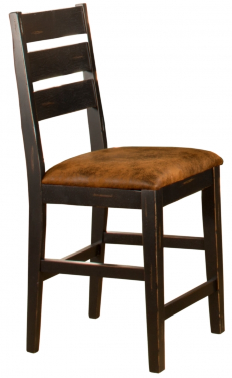 Killarney Non-Swivel Counter Stool - Black/ Antique Brown