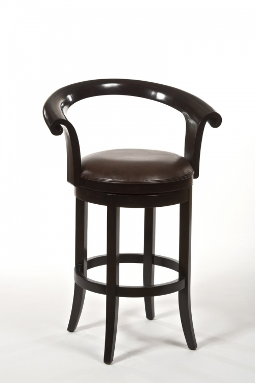 Apsley Swivel Bar Stool - Dark Brown Rub