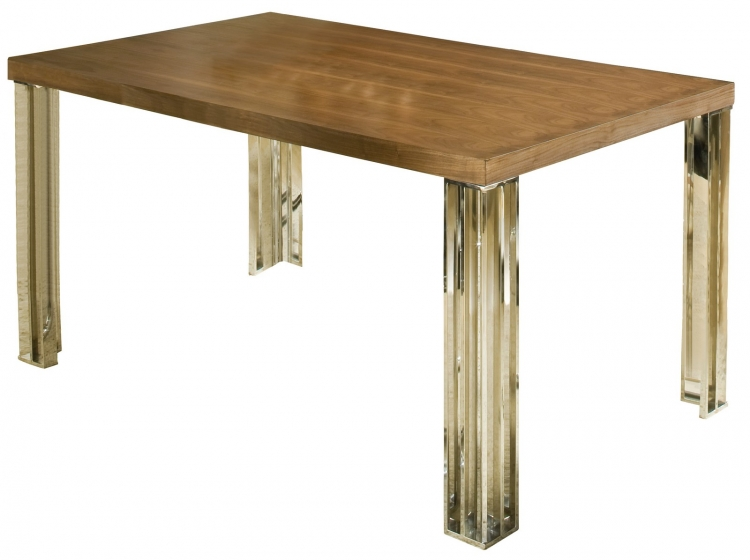Trivoli Dining Table - Walnut/ Stainless Steel