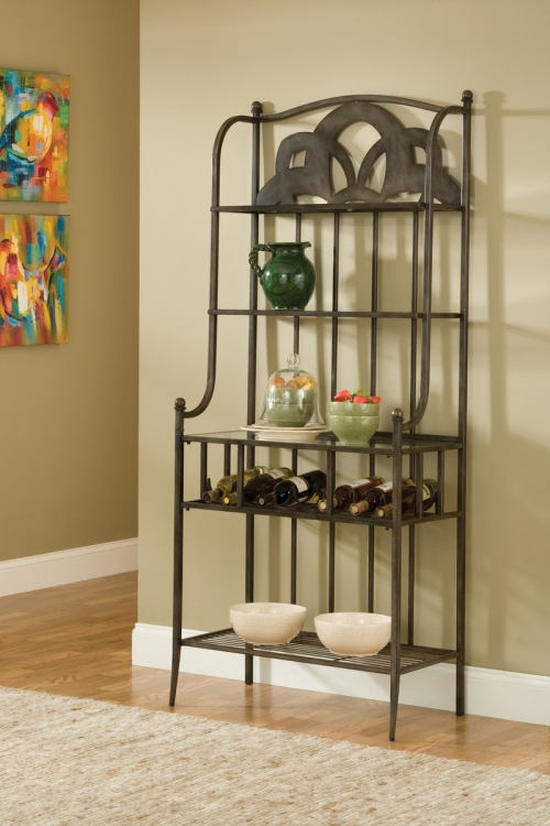 Marsala Bakers Rack - Small Center Design - Gray with Brown Rub