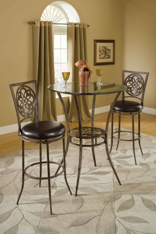 Marsala 3 Piece Bistro Dining Set - Gray
