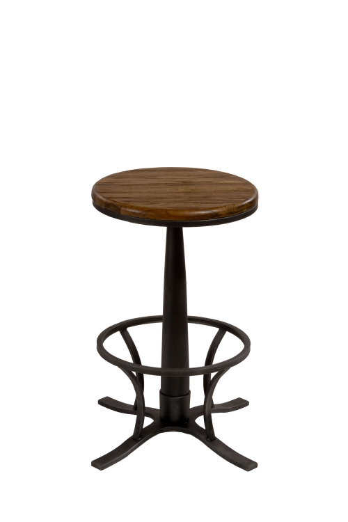 Rivage Backless Swivel Counter Stool - Steel Gray