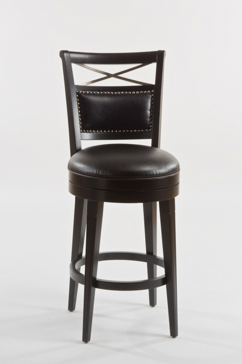 Tate Street Swivel Counter Stool - Black PU