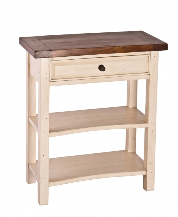Tuscan Retreat Console Table - White/Antique Pine
