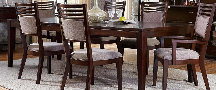Denmark Leg Dining Table - Dark Espresso