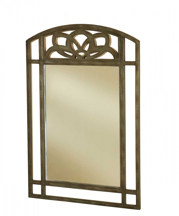 Marsala Console Mirror - Gray with Brown Rub/ Glass