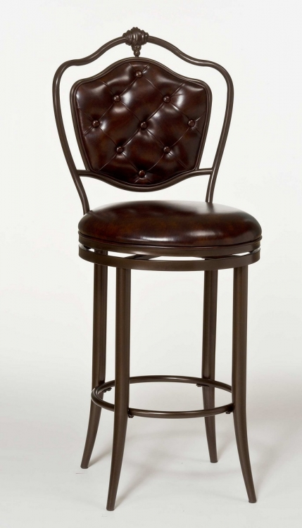 Paramont Swivel Counter Stool - Brown Copper