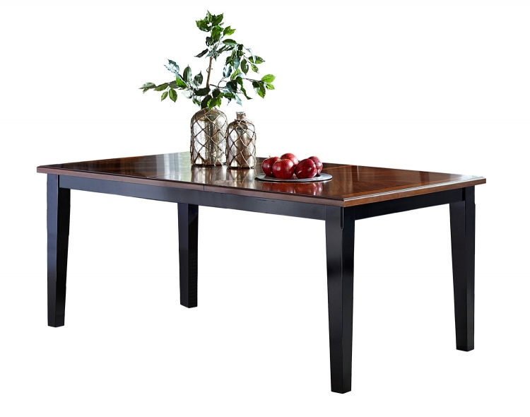 Avalon Extension Table - Black/Cherry